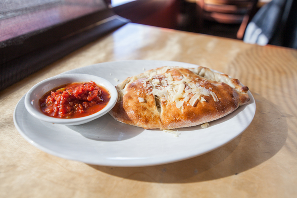 pw pizza calzone with sauce on the side